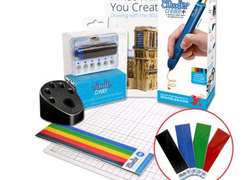 3Doodler Create PLUS 3D列印筆 (旗艦組合)+贈送4包顏料(隨機出貨)+3D列印筆工作站